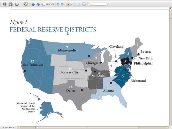 Map of Federal Reserve Districts | US | The Bankwatch