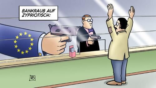 Bank holdup EU style